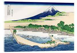 Akrylbillede  The Shore at Tago near Ejiri on the Tokaido - Katsushika Hokusai