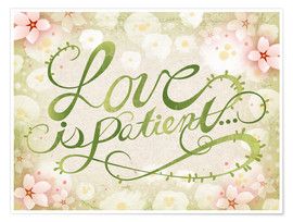 Premium-plakat Love Is Patient