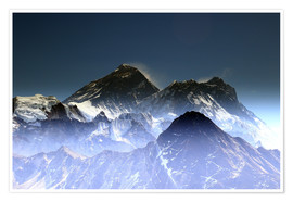 Premium-plakat Everest summit