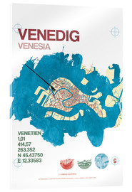 Akrylbillede  Venice city motif card - campus graphics