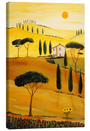 Lærredsbillede  Colored Tuscany - Christine Huwer