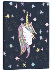 Lærredsbillede  Unicorn at night - Kidz Collection
