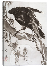 Lærredsbillede  Crow and the Moon - Kawanabe Kyosai
