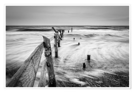 Premium-plakat Stormy Baltic Sea (monochrome)