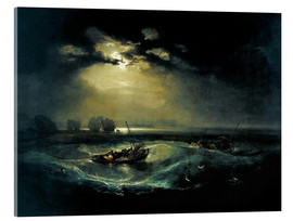 Akrylbillede  Fishermen at Sea - Joseph Mallord William Turner