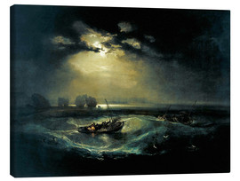 Lærredsbillede  Fishermen at Sea - Joseph Mallord William Turner