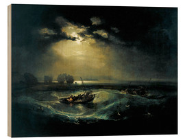 Print på træ  Fishermen at Sea - Joseph Mallord William Turner