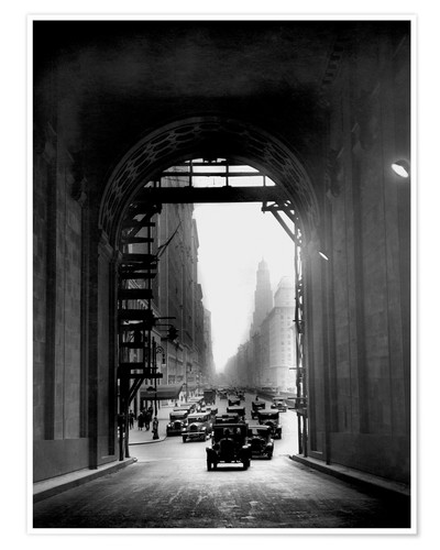 Premium-plakat Arch at Grand Central Station - historical