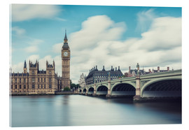Akrylbillede  LONDON, Big Ben and Westminster Bridge - rclassen