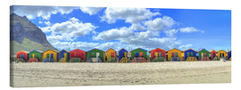 Lærredsbillede  Colorful beach houses in Muizenberg - HADYPHOTO