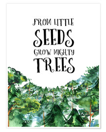 Premium-plakat From little seeds grow mighty trees