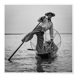 Premium-plakat Fisherman in Myanmar