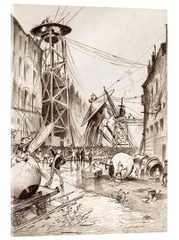 Akrylbillede  Humans Dissecting Martian War Machines - Henrique Alvim Correa