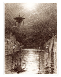 Premium-plakat  Martian Machine Over the Thames - Henrique Alvim Correa