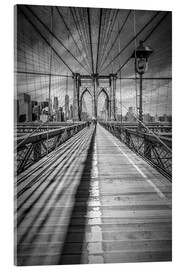 Akrylbillede  Brooklyn Bridge, New York City - Melanie Viola