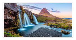 Premium-plakat Magical Iceland, Waterfall on Snaefellsnes