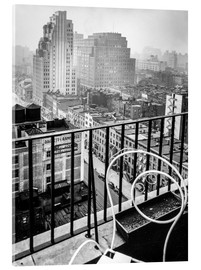 Akrylbillede  New York: View from penthouse, 56 Seventh Avenue, Manhattan - Christian Müringer