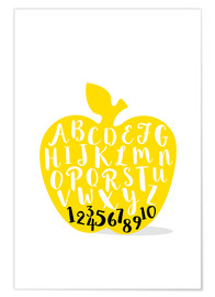 Premium-plakat  ABC apple yellow - Ohkimiko