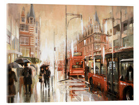 Akrylbillede  Oxford Street in the rain - Johnny Morant
