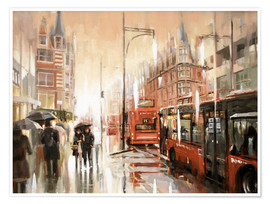 Premium-plakat Oxford Street in the rain
