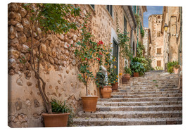 Lærredsbillede  Fornalutx - Most beautiful village in Majorca - Christian Müringer