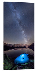 Akrylbillede  Panoramic of Milky Way on Mont Blanc, France - Roberto Sysa Moiola
