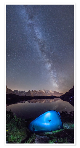 Premium-plakat Panoramic of Milky Way on Mont Blanc, France