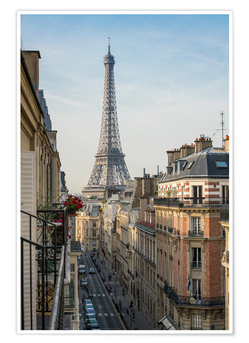 Premium-plakat View over the rooftops of Paris, France