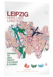 Akrylbillede  Leipzig map city motive - campus graphics