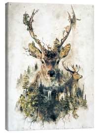 Lærredsbillede  Deer nature, surrealism - Barrett Biggers