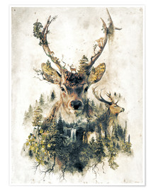 Premium-plakat  Deer nature, surrealism - Barrett Biggers