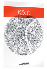 Akrylbillede  Cologne city circle - campus graphics