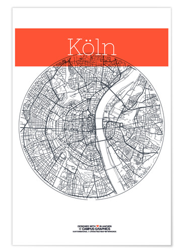 Premium-plakat Cologne city circle