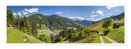 Premium-plakat Hiking trail in the Valle Aurina (South Tyrol)