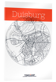 Akrylbillede  Duisburg map circle - campus graphics