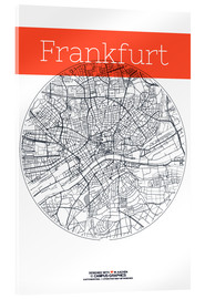 Akrylbillede  Frankfurt map circle - campus graphics