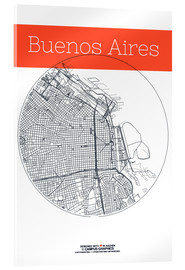 Akrylbillede  Buenos Aires circle - campus graphics