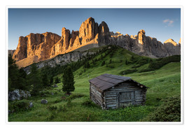 Premium-plakat Sunrise in the Dolomites