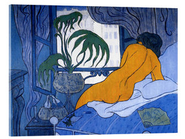 Akrylbillede  The blue room (Nude with Fan) - Paul Ranson
