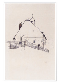 Premium-plakat  House with Bell Tower - Egon Schiele