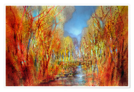 Premium-plakat The forests colorful
