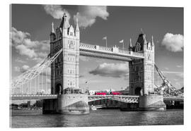 Akrylbillede  London, Tower Bridge Black and White - rclassen
