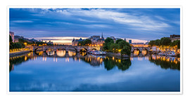 Premium-plakat Pont Neuf and Seine in Paris, France