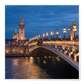 Premium-plakat Les Invalides and Pont Alexandre III in Paris, France