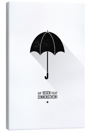 Lærredsbillede  Umbrella - The sun will always shine after the rain. - Black Sign Artwork