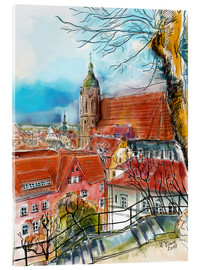 Akrylbillede  Pirna, View to the Church of St. Mary - Hartmut Buse