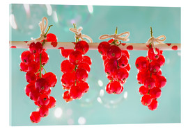 Akrylbillede  Red currants full - K&L Food Style