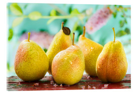 Akrylbillede  Five pears - K&L Food Style