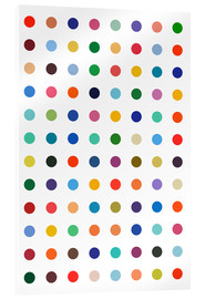 Akrylbillede  Damien Tribute - Colourful polkadots - THE USUAL DESIGNERS