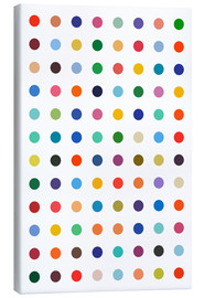 Lærredsbillede  Damien Tribute - Colourful polkadots - THE USUAL DESIGNERS